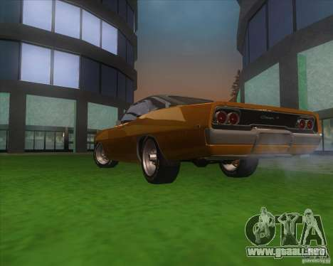 Dodge Charger RT 1968 para vista lateral GTA San Andreas