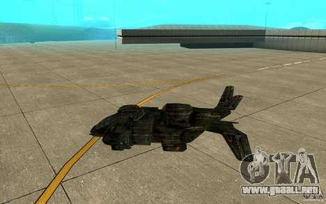 El transbordador desde el juego Aliens vs Predat para GTA San Andreas vista posterior izquierda