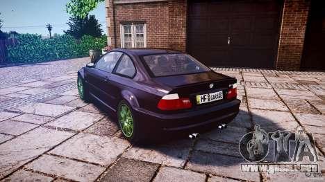 BMW M3 e46 2005 para GTA 4 Vista posterior izquierda