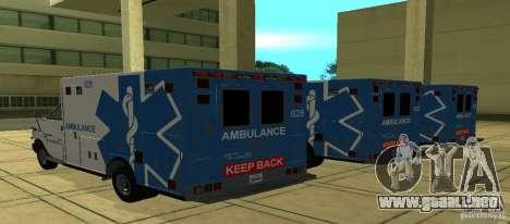 Ambulancia de GTA 4 para GTA San Andreas left