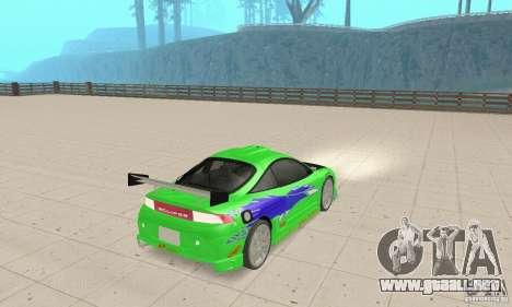 Mitsubishi Eclipse FnF para GTA San Andreas left