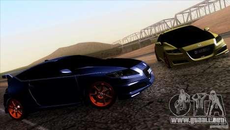 Honda CR-Z Mugen 2011 V1.0 para GTA San Andreas vista posterior izquierda