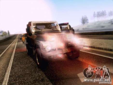 Jeep Wrangler 1994 para visión interna GTA San Andreas