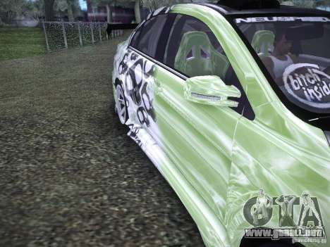 Mitsubishi Lancer Evolution X - Tuning para visión interna GTA San Andreas