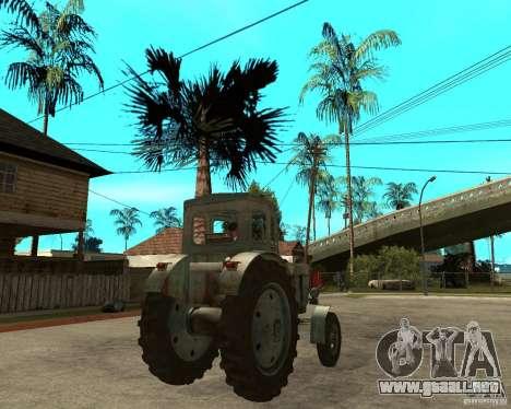 Tractor Т-40М para GTA San Andreas vista posterior izquierda