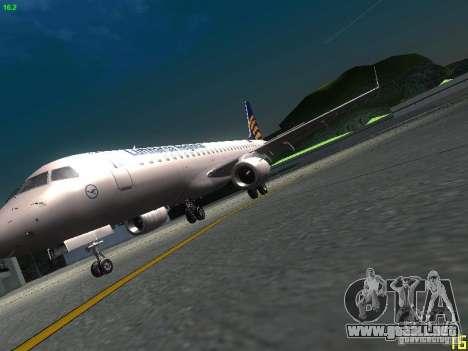 Embraer ERJ 190 Lufthansa Regional para visión interna GTA San Andreas