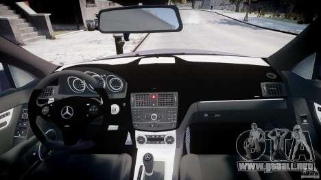 Mercedes-Benz C180 CGi Classic Special 2009 para GTA 4 vista superior