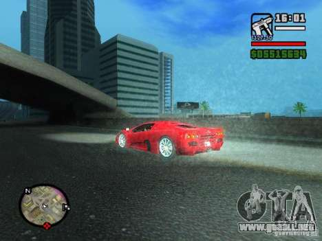 SSC Ultimate Aero para GTA San Andreas vista posterior izquierda