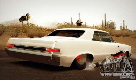 Pontiac GTO Drag Shark para GTA San Andreas left