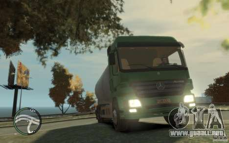 Mercedes Benz Actros Gas Tanker para GTA 4 interior