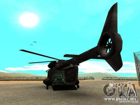 New Cargobob para GTA San Andreas vista posterior izquierda