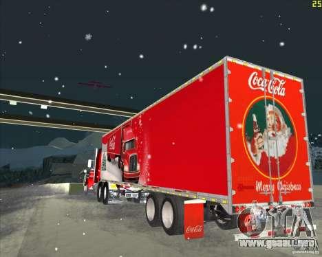 El remolque para el remolque de Coca Cola para GTA San Andreas vista posterior izquierda