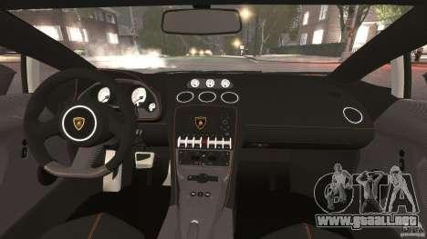 Lamborghini Gallardo LP570-4 Superleggera para GTA 4 vista hacia atrás