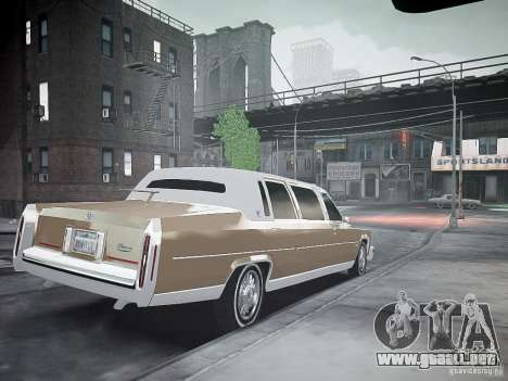 Cadillac Fleetwood 1985 para GTA 4 left