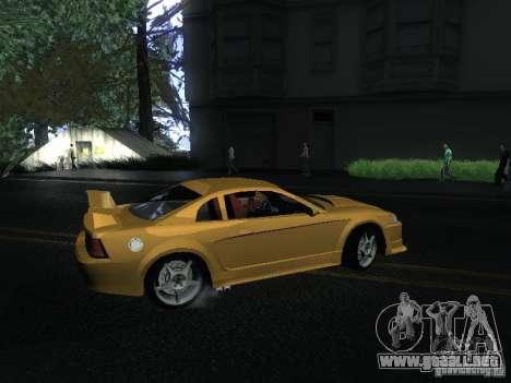 Ford Mustang SVT Cobra para GTA San Andreas vista posterior izquierda