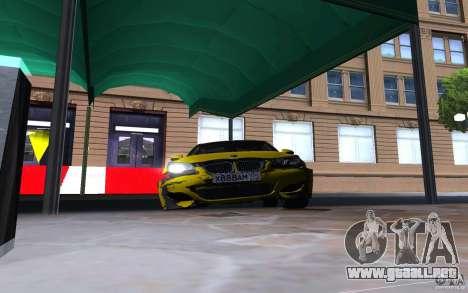 BMW M5 Gold Edition para la vista superior GTA San Andreas
