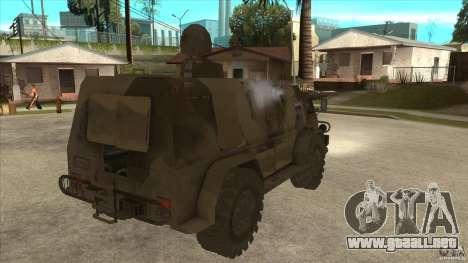 GAZ 39371 Vodnik para la visión correcta GTA San Andreas