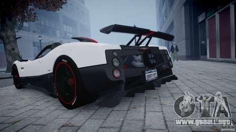 Pagani Zonda Cinque Roadster para GTA 4 Vista posterior izquierda