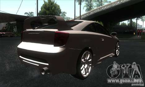 Toyota Celica-SS2 Tuning v1.1 para GTA San Andreas vista posterior izquierda