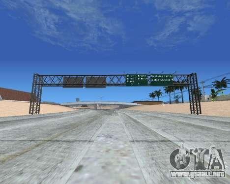 Carretera signos v1.2 para GTA San Andreas tercera pantalla