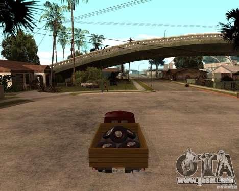 Gaz M-20 Pobeda PickUp para GTA San Andreas vista posterior izquierda