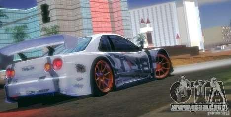 Nissan Skyline Touring R34 Blitz para la vista superior GTA San Andreas