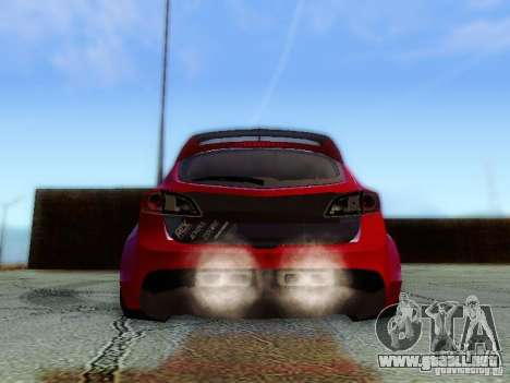 Mazda Speed 3 2010 para visión interna GTA San Andreas