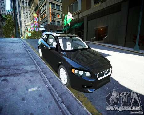 Volvo C30 2009 para GTA 4 vista hacia atrás