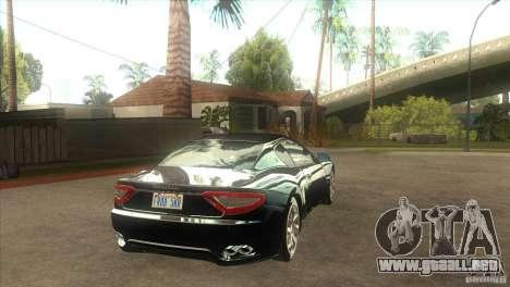 Maserati Gran Turismo 2008 para la visión correcta GTA San Andreas
