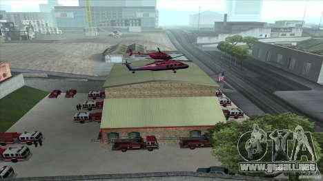El fuego animado en el SF v3.0 Final para GTA San Andreas sucesivamente de pantalla