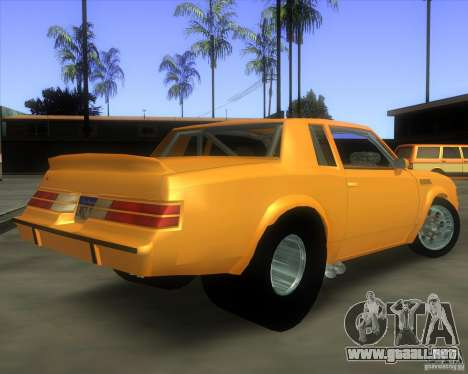 Buick GNX pro stock para GTA San Andreas left