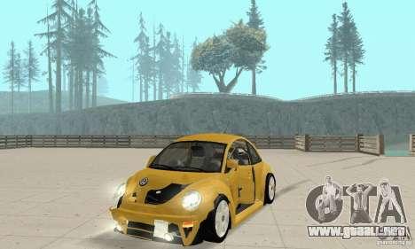 Volkswagen New Beetle GTi 1.8 Turbo para vista lateral GTA San Andreas