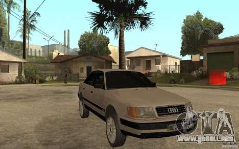 Audi 100 C4 1992 para GTA San Andreas vista hacia atrás