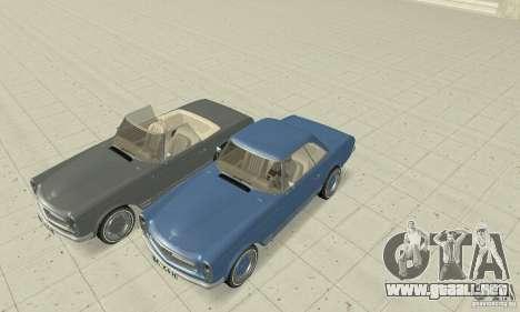 Mercedes-Benz 280SL (Matt) para vista inferior GTA San Andreas