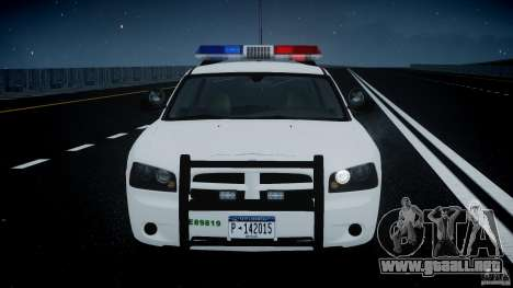 Dodge Charger US Border Patrol CHGR-V2.1M [ELS] para GTA 4 vista superior