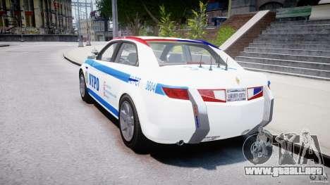 Carbon Motors E7 Concept Interceptor NYPD [ELS] para GTA 4 vista lateral
