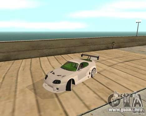 Toyota Supra TwinTurbo para GTA San Andreas vista posterior izquierda