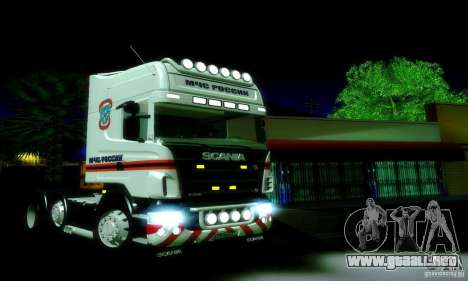 Scania R620 Emercom de Rusia para GTA San Andreas left