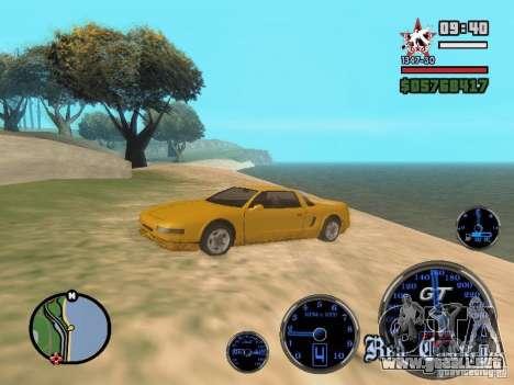 Speedometer GT para GTA San Andreas tercera pantalla