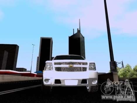 Chevrolet Tahoe LTZ 2013 para vista lateral GTA San Andreas