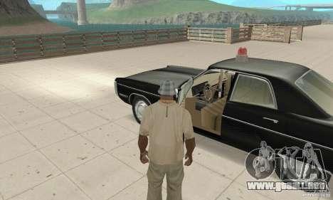 Plymouth Fury III Police para GTA San Andreas vista hacia atrás