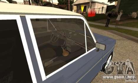 2106 VAZ viejo v2.0 para la visión correcta GTA San Andreas