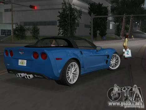 Chevrolet Corvette ZR1 para GTA Vice City vista lateral izquierdo