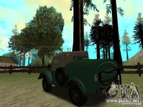 GAZ 69 APA 12 para GTA San Andreas vista posterior izquierda