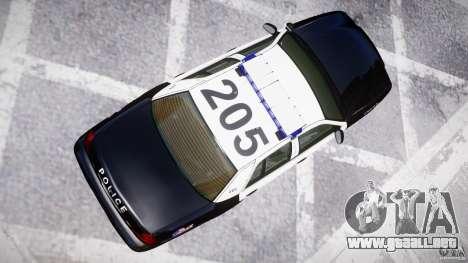 Ford Crown Victoria Massachusetts Police [ELS] para GTA 4 vista lateral