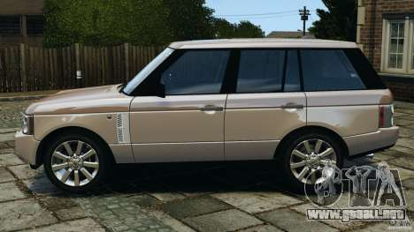 Range Rover Supercharged 2008 para GTA 4 left