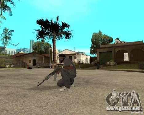 AK47 con el visor óptico estándar para GTA San Andreas tercera pantalla
