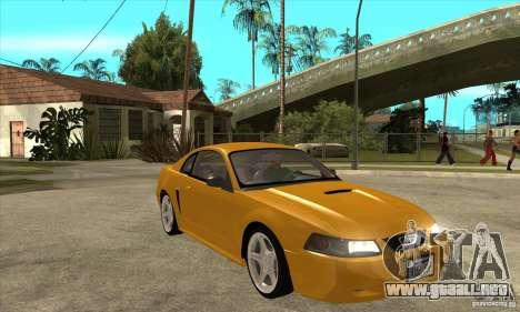 Ford Mustang GT 1999 - Stock para GTA San Andreas vista hacia atrás