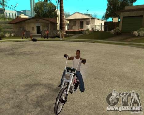 C&C chopeur para GTA San Andreas vista hacia atrás