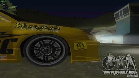Subaru Impreza WRX No Fear para visión interna GTA San Andreas